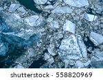 ice floe floating on river | Shutterstock . vector #558820969