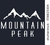mountain peak vector icon on a... | Shutterstock .eps vector #558825304