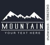mountain vector icon on a dark...   Shutterstock .eps vector #558825343