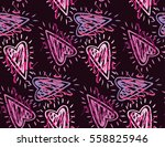 valentine's day pattern with...   Shutterstock .eps vector #558825946