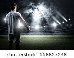 football player with ball in... | Shutterstock . vector #558827248