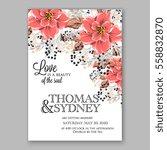 wedding invitation floral... | Shutterstock .eps vector #558832870