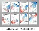 set of brochure templates ... | Shutterstock . vector #558833410