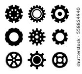 simple gear or cog wheel vector ... | Shutterstock .eps vector #558834940