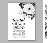 wedding invitations with... | Shutterstock .eps vector #558836059