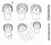hand drawn cartoon  | Shutterstock .eps vector #558838006