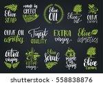 vector hand lettering olive... | Shutterstock .eps vector #558838876