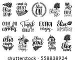 vector hand lettering olive... | Shutterstock .eps vector #558838924