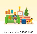 woman housewife  on the eve of... | Shutterstock .eps vector #558839683