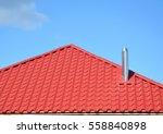 metal roof construction.  metal ... | Shutterstock . vector #558840898