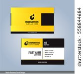 yellow and black modern... | Shutterstock .eps vector #558844684