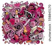 cartoon cute doodles hand drawn ... | Shutterstock .eps vector #558845170