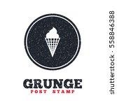 grunge post stamp. circle...   Shutterstock .eps vector #558846388