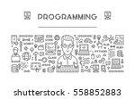 vector line web concept for... | Shutterstock .eps vector #558852883