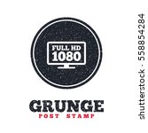 grunge post stamp. circle... | Shutterstock .eps vector #558854284