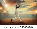 baseball players in action on... | Shutterstock . vector #558856204
