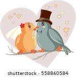 Love Birds Cartoon Vector...