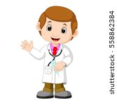 doctor with injection | Shutterstock . vector #558862384