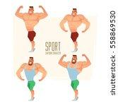 cartoon character  muscular man ... | Shutterstock .eps vector #558869530
