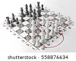 chess. white board with chess... | Shutterstock . vector #558876634