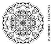 flower mandalas. vintage... | Shutterstock .eps vector #558879358