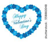 valentines day vintage... | Shutterstock .eps vector #558883048