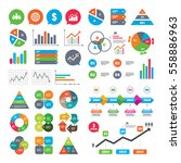business charts. growth graph.... | Shutterstock .eps vector #558886963