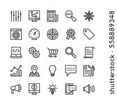 seo and marketing vector icons 5 | Shutterstock .eps vector #558889348