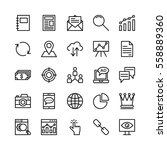 seo and marketing vector icons 4 | Shutterstock .eps vector #558889360