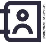phone directory vector icon  | Shutterstock .eps vector #558891034