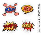 bubble of cartoon comic speech. ... | Shutterstock .eps vector #558896704