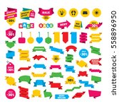 web stickers  banners and... | Shutterstock .eps vector #558896950