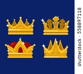 isolated royal queen or king... | Shutterstock .eps vector #558897118