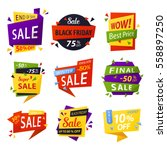 retail sale tag for black... | Shutterstock .eps vector #558897250