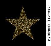 gold glitter textured stars on...   Shutterstock .eps vector #558905689
