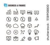 icons business line black... | Shutterstock .eps vector #558908800