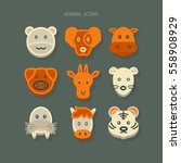 icons animal vector | Shutterstock .eps vector #558908929