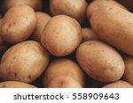 Close Up Of Ripe Raw Potatoes....