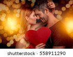 man with bokeh background for... | Shutterstock . vector #558911290