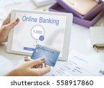 online banking internet finance ... | Shutterstock . vector #558917860