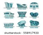 futuristic sport arena... | Shutterstock .eps vector #558917920