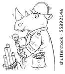 rhino electrician | Shutterstock . vector #55892146