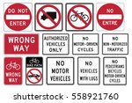 road signs in the united states.... | Shutterstock .eps vector #558921760