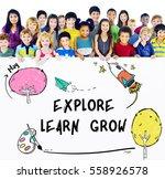 children imagination learning...   Shutterstock . vector #558926578