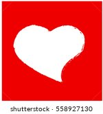 white heart  valentine's day