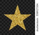 gold glitter vector icon of... | Shutterstock .eps vector #558927334