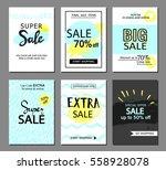 set of social media sale... | Shutterstock .eps vector #558928078