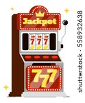 casino concept isolated on... | Shutterstock .eps vector #558932638