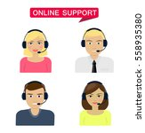 set of women  men telemarketer ... | Shutterstock .eps vector #558935380