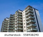 apartment house with balconies | Shutterstock . vector #558938290